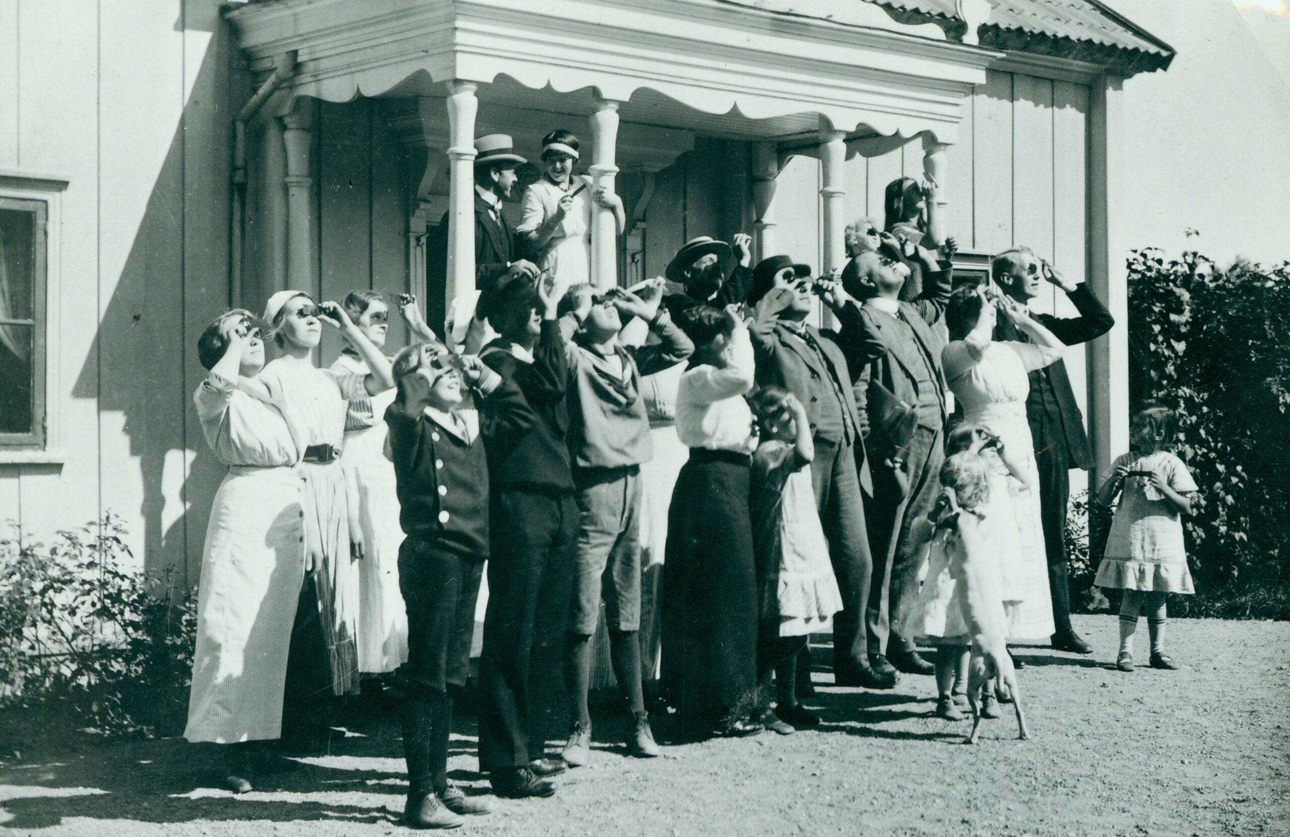Solförmörkelse, Fullersta Gård 1914