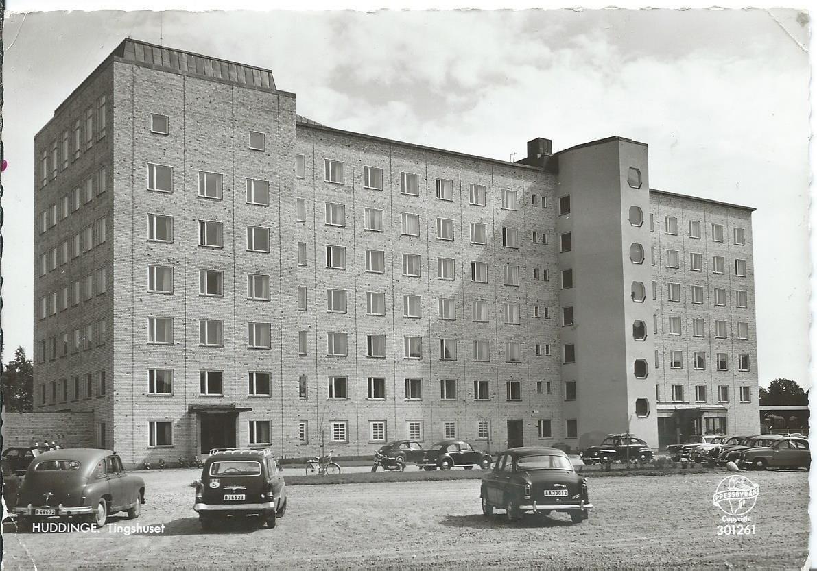 Tingshuset vid Kyrkdammarna, byggt 1959